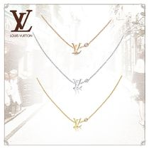 Louis Vuitton Casual Style Chain Party Style 18K Gold With Jewels