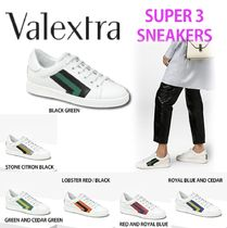 Valextra Unisex Leather Low-Top Sneakers