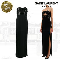 Saint Laurent Tight Plain Long Dresses