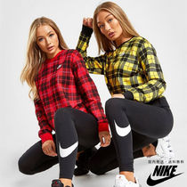 Nike Crew Neck Other Check Patterns Sweat Street Style