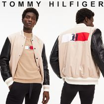 Tommy Hilfiger Short Unisex Wool Street Style Collaboration Plain
