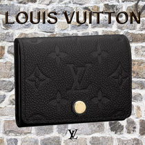 Louis Vuitton Monogram Unisex Leather Card Holders