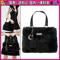 DOLLS KILL Casual Style Faux Fur 2WAY Plain Totes
