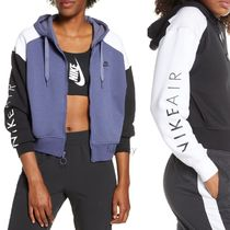 Nike Short Sweat Street Style Bi-color Long Sleeves Cropped