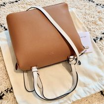 CELINE 2WAY Plain Leather Shoulder Bags
