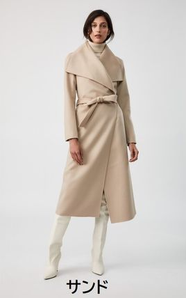Mackage Wool Plain Long Logo Coats