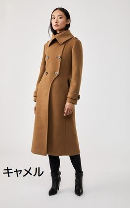 Wool Plain Long Coats