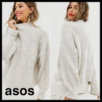 ASOS Cable Knit Casual Style Wool Long Sleeves Plain Medium