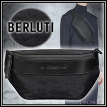 Berluti Nylon Messenger & Shoulder Bags