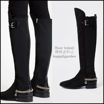 River Island Casual Style Faux Fur Over-the-Knee Boots