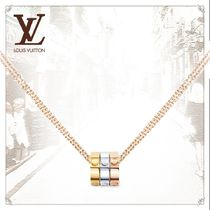 Louis Vuitton Casual Style Flower Chain Party Style 18K Gold Office Style