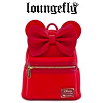 LOUNGE FLY Casual Style Collaboration Plain Backpacks