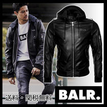 BALR Street Style Plain Leather Biker Jackets