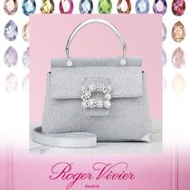 Roger Vivier Leather Party Style With Jewels Elegant Style Party Bags