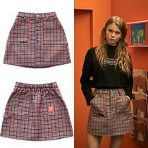 OoH AHh Other Check Patterns Street Style Skirts