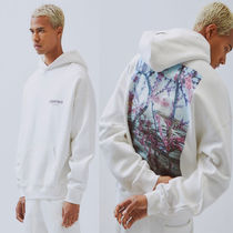 FEAR OF GOD ESSENTIALS Street Style Long Sleeves Plain Cotton Oversized Hoodies