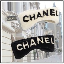 CHANEL 2019-20AW HAIRBAND ivory black hair accessories