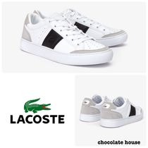 LACOSTE Unisex Plain Other Animal Patterns Leather Sneakers