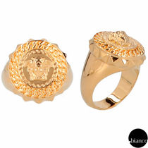 VERSACE Unisex Street Style Other Animal Patterns Metal Rings