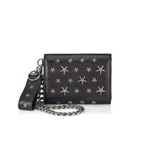 Jimmy Choo Studded Chain Plain Leather Folding Wallet Folding Wallets