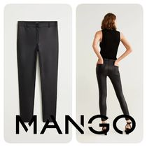 MANGO Plain Medium Elegant Style Skinny Pants