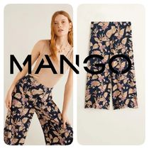MANGO Flower Patterns Casual Style Medium Culottes & Gaucho Pants