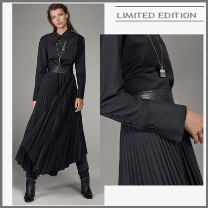 A-line Long Sleeves Plain Long Party Style Elegant Style