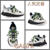 Ganni Leather Low-Top Sneakers