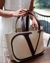 VALENTINO Casual Style Unisex Street Style A4 Plain Totes