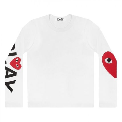 COMME des GARCONS Long Sleeve Crew Neck Heart Unisex Street Style Long Sleeves Cotton 2