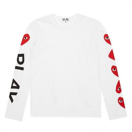 COMME des GARCONS Long Sleeve Crew Neck Heart Unisex Street Style Long Sleeves Cotton 4