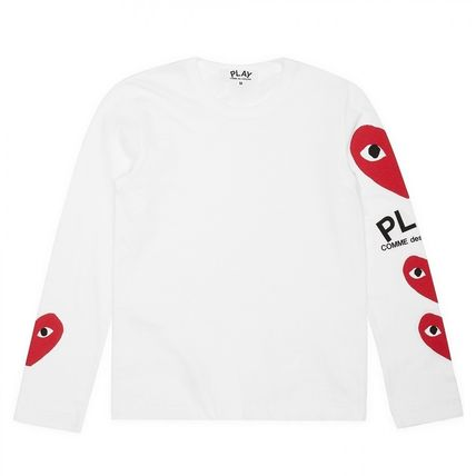 COMME des GARCONS Long Sleeve Crew Neck Heart Unisex Street Style Long Sleeves Cotton 6