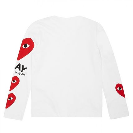 COMME des GARCONS Long Sleeve Crew Neck Heart Unisex Street Style Long Sleeves Cotton 7