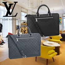 Louis Vuitton DAMIER INFINI A4 2WAY Leather Business & Briefcases