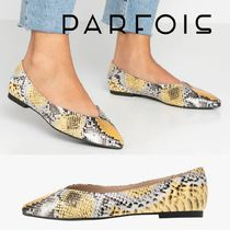 PARFOIS Casual Style Python Pointed Toe Pumps & Mules