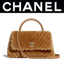 CHANEL ICON Lambskin Blended Fabrics Street Style 2WAY Chain Plain