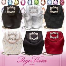 Roger Vivier Flower Patterns Dots Casual Style 2WAY Plain Party Style