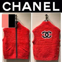 CHANEL ICON Casual Style Wool Cashmere Blended Fabrics Street Style
