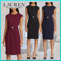 Ralph Lauren Tight Sleeveless Plain Medium Office Style Dresses