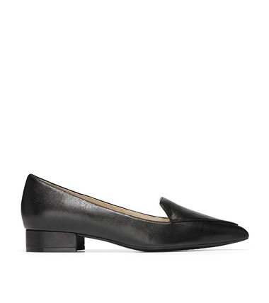 Cole Haan Plain Leather Block Heels Office Style