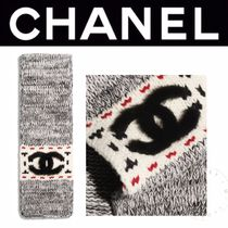 CHANEL ICON Casual Style Unisex Wool Blended Fabrics Street Style Plain