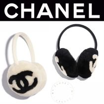 CHANEL ICON Casual Style Cashmere Blended Fabrics Street Style Plain