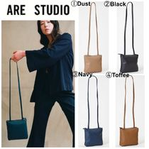 ARE STUDIO Casual Style Plain Leather Shoulder Bags