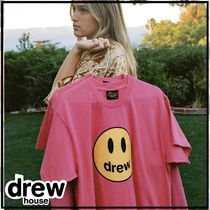 drew house Crew Neck Unisex Street Style Plain Cotton Short Sleeves