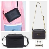 HUNTER Casual Style Plain Leather Shoulder Bags