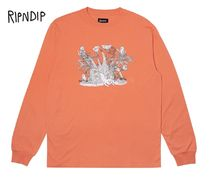 RIPNDIP Street Style Long Sleeves Long Sleeve T-Shirts