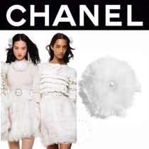 CHANEL ICON Barettes Casual Style Blended Fabrics Street Style Handmade