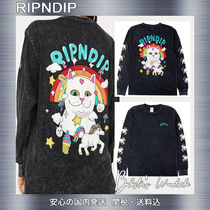 RIPNDIP Crew Neck Unisex Street Style Long Sleeves