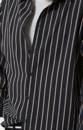 AFENDS Shirts Button-down Stripes Street Style Long Sleeves Cotton Shirts 5