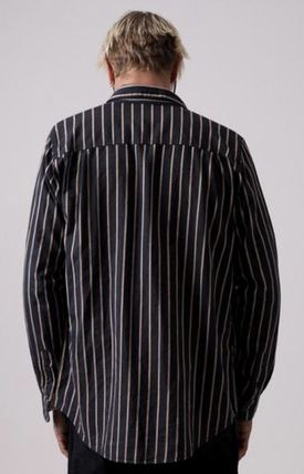 AFENDS Shirts Button-down Stripes Street Style Long Sleeves Cotton Shirts 9